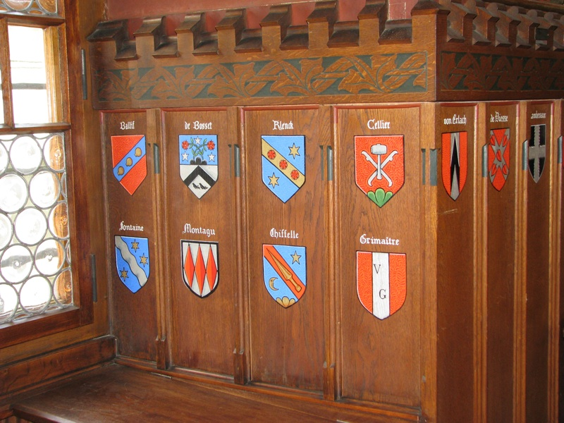 Blasons in Council Hall of La Neuveville 1